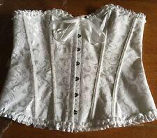 "White Strapless Bridal Corset Waist 32"" - 36"" (80 - 90 Cms) Steampunk Goth New"