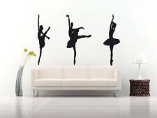 Wall Room Decor Art Vinyl Sticker Mural Decal Ballet Dance Women Ballerina FI342