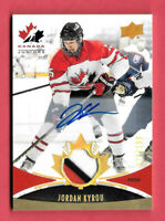 2016-17 Jordan Kyrou Upper Deck Team Canada Juniors Auto Patch 078/199 - Blues