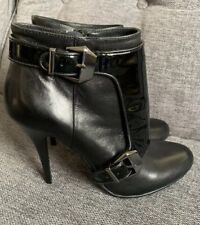 Moda in Pelle Ladies Boots 5 38 New Patent Chaps Nixie Steampunk Stiletto Heels