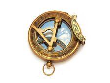 Antique Nautical Antique Brass Marine Stanley London Pocket Sundial Compass