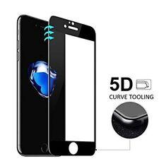 Cristal templado curvo NEGRO 5D protector pantalla para Iphone 7 y 8 PLUS.Ordina