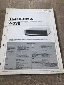 Toshiba V-33B service manual For Colour Video Cassette Recorder
