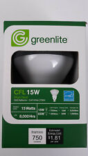 Greenlite Lighting CFL 15W R30 Reflector Soft White 2700K Dome Shape, 9 Bulbs