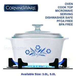 CorningWare, Corning Ware casserole with lid, Dutch Oven, Over safe, Flame top