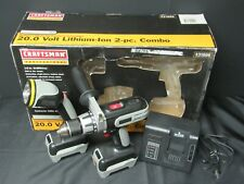 RARE Craftsman Professional 20 volt Black Drill Light Lithium Battery Set 31896