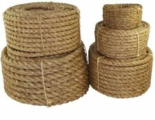 Twisted Manila 3 Strand Natural Fiber Cord | Ropes for Indoor and Outdoor 1/2 in