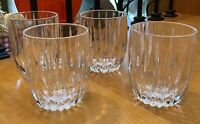 "Mikasa Crystal PARK LANE 3 7/8"" Old Fashioned Tumblers Set of 4"