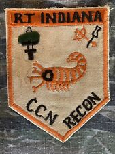 Vietnam War Theater Special Forces MACV SOG Recon Team Indiana Patch