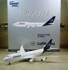 "Gemini Jets Lufthansa ""New Color"" Boeing B747-400 1/200"