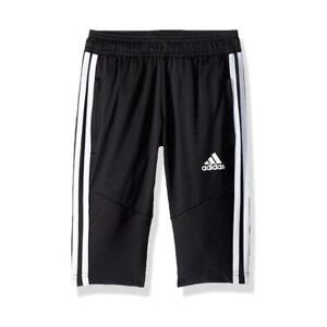 NEW Adidas Boys' Athletic Tiro 19 3/4 Slim Fit ClimaCool Soccer Pants Shorts