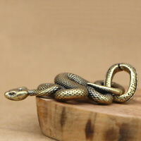 1pc Brass Snake Key Ring Boa Key chain Outdoor Small Accessories Car Hanging LQA