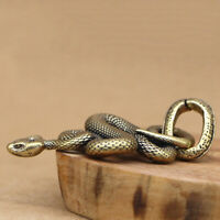 1Pc Brass Snake Key Ring Boa Key Chain Outdoor Small Accessories Car Hang~JP YK