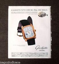 [GCG]  P508 - Advertising Pubblicità -2000- GLASHUTTE TUTTO COME NEL 1845
