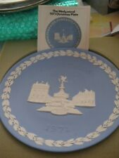 Wedgewood Jasperware Blue Piccadilly Circus Christmas 1971 Decorative Plate Uk