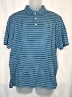 Peter Millar Men's Seaside Wash Polo Golf Shirt Ocean Blue NWOT $89 Size M