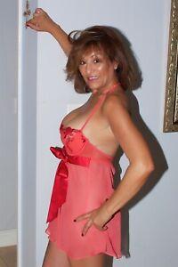 Women's Vintage Red Babydoll By Victorias Secret Size 34C