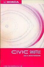 HONDA CIVIC SHUTTLE - Libretto Uso e Manutenzione