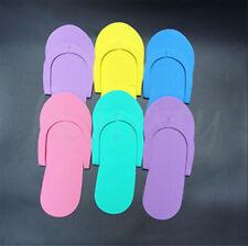 12/24Pairs Disposable Flip Flops Foam Pedicure Tanning Spa Slippers Random Color