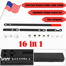 16PC Wrench Serpentine Belt Tension Tool Kit Automotive Repair Set Sockets Screw