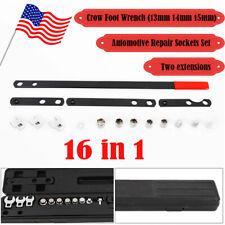 16PC Wrench Serpentine Belt Tension Tool Kit Automotive Repair Set Sockets Screw