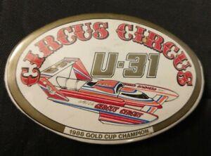 Circus Circus Gold Cup Champion U-31 Hydroplane Racing Boat Chip Hanauer Button