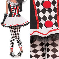 Women Lady Sexy Circus Outfit Clown Jester Fancy Dress Halloween Party Costume#