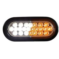 """BUYERS PRODUCTS SL66AC 6"""" Amber/Clear Oval Recessed Strobe Warning Light"""