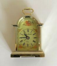 London Clock Company Silver Plated Quartz Analogue Alarm Mantel Clock