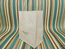 Soft paper gift bag Fossil very small white paper carrier bags NO tag