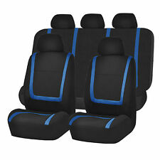 Car Seat Covers Set For Auto Blue Black For Truck SUV Car