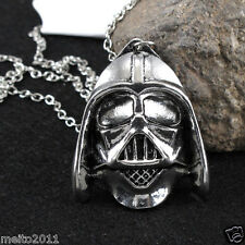 Star wars Retro Silver Men Helmet Pendant Charms Silver Inspired Necklace Gift