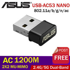 ASUS USB-AC53 Nano AC1200 Dual-Band USB2.0 802.11a/b/g/n/ac Wi-Fi Adapter Dongle