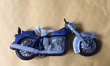 4� 1970 era Blue Diecast Harley-Davidson Motorcycle #1504 marked Hong Kong