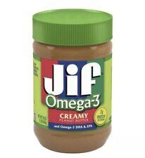 Jif Omega 3 Creamy Peanut Butter 16oz Jar FREE SHIPPING