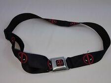 Deadpool Marvel X-Men Belt Seat Belt Logo Buckle Down Black Adjustable