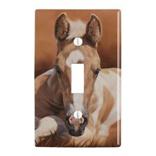 Foal Baby Horse New Paint Plastic Wall Decor Toggle Light Switch Plate Cover