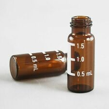 Amber 2mL Autosampler / Chromatography Vial Screw-top 9-425 GPI Thread + Cap