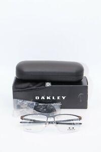 Oakley Eyeglasses OX 5140 0356 Tie Bar 0.5 Satin Light Steel NWT 56 Titanium
