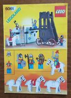 Lego Castles Siege Tower 6061 Instructions only vintage and rare