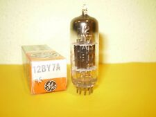 1 X 12BY7A-GENERAL ELECTRIC-BLACK PLATE-NOS/NIB-TUBE.