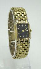Vintage Bulova Women's Diamond Accented Black Dial Gold-Tone Watch 97P46