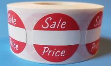 Self Adhesive Sale Price Round Retail Labels 1 Diameter Sticker Tags 500 Pack