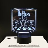 Abbey Road Beatles lampada luce notturna Led 3D Acrylic Night Light Lamp 7 album