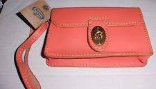 FOSSIL AUSTIN WRISTLET HOT CORAL COLOR BRAND NEW WITH TAGS