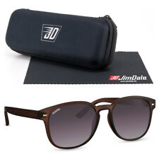 Jim Dale Herren Retro Sonnenbrille Kunststoff Braun Getönt UV400 Damen Vintage