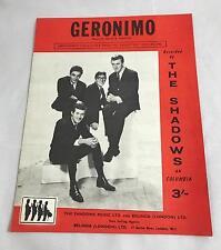 Le ombre-GERONIMO - 1961 SPARTITI MUSICALI-Hank Marvin