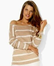 NWT Buttoned-Shoulder Bateau-Neck Linen Top MSRP $69.50