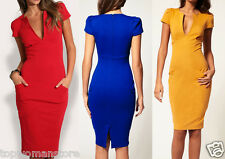 Top Woman Store Sexy Deep V-neck Pencil Elegant Dress Bodycon Business Cocktail