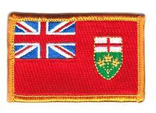 Toppe Toppa PATCH ONTARIO CANADA PROVINCE Bandiera 7x4.5cm ricamata termoadesivo